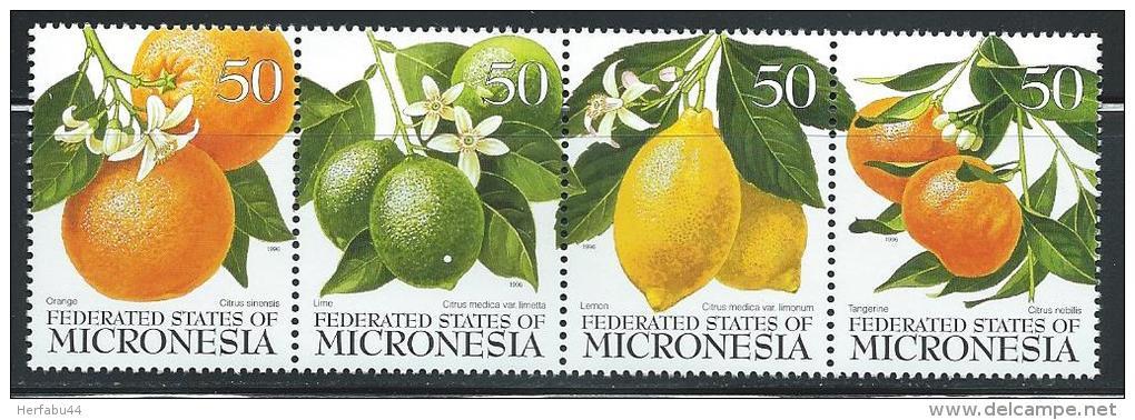 "Micronesia     ""Citrus Fruits""      Strip Of 4      SC# 248  MNH** - Fruits"