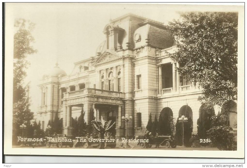FORMOSE.....TAIHOKU....the Governors Residence......carte Photo - Formose