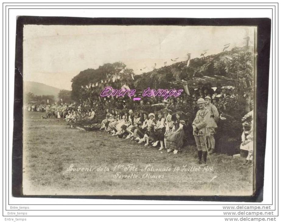 Ferrette Alsace Fete Nationale Juillet 1919 - Plaatsen