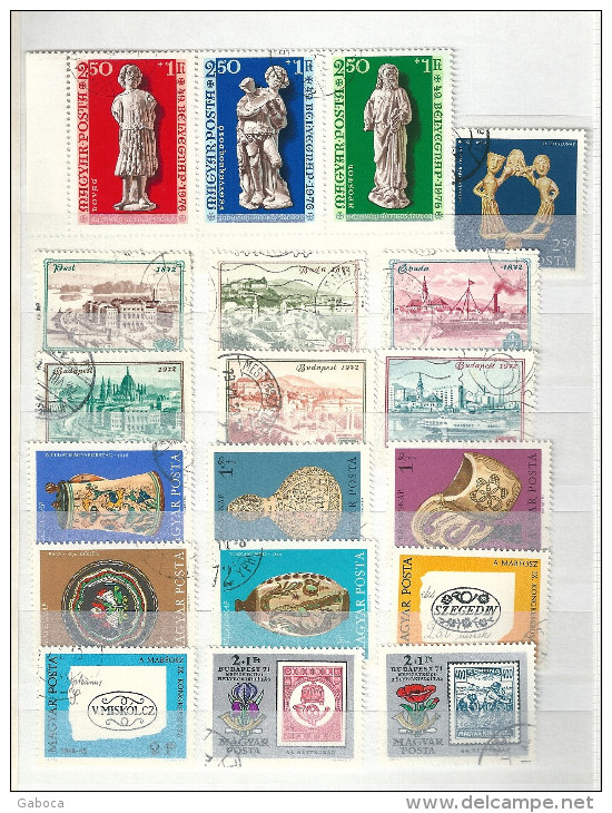 0613 Hungary 35 Different Stamps Used Lot 08 - Timbres