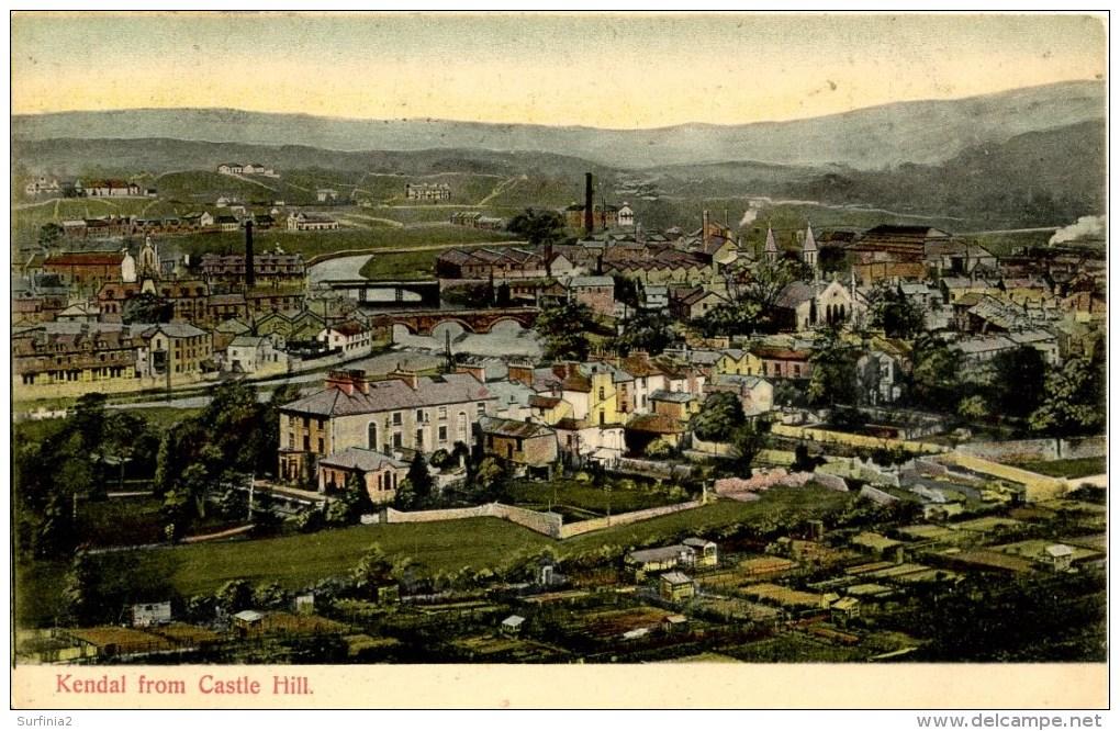 CUMBRIA - KENDAL FROM CASTLE HILL   Cu902 - Cumberland/ Westmorland