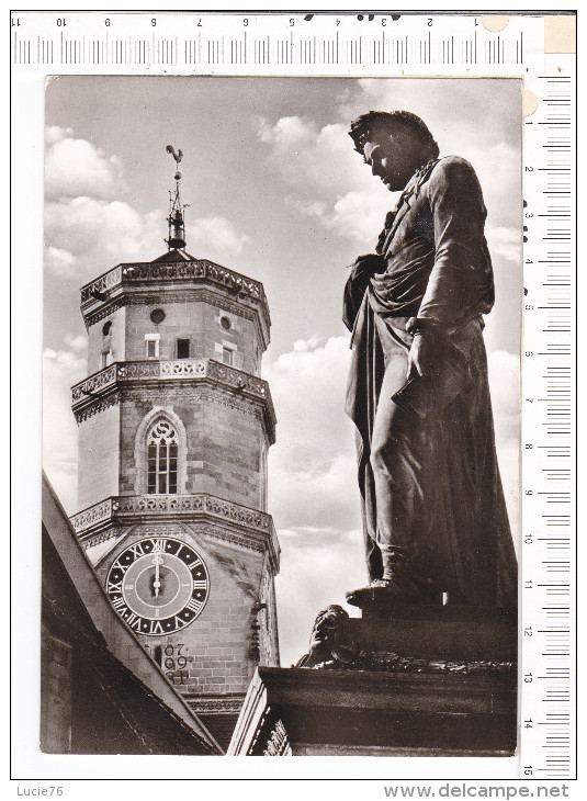 STUTTGART  -  Stiftskirke  Mit  Schillerdenkmal - Stuttgart
