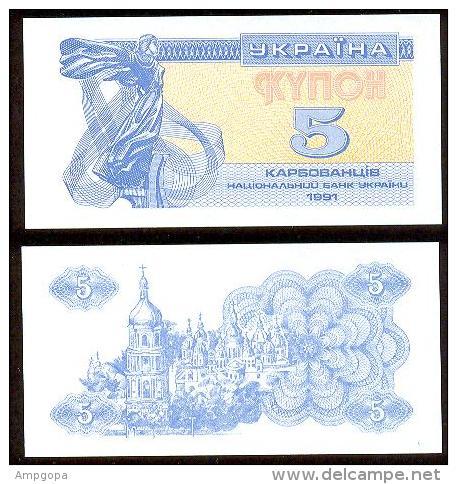 Ucrania 5 Karbovanets 1991 Pk-83-a UNC - Ukraine