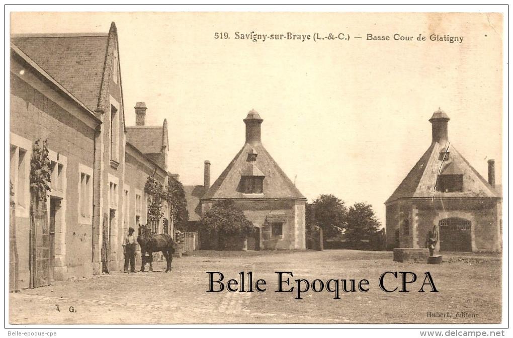 41 - SAVIGNY-sur-BRAYE - Basse Cour De Glatigny ++++ A. G. / Hubert, éditeur, #519 +++++ RARE - France
