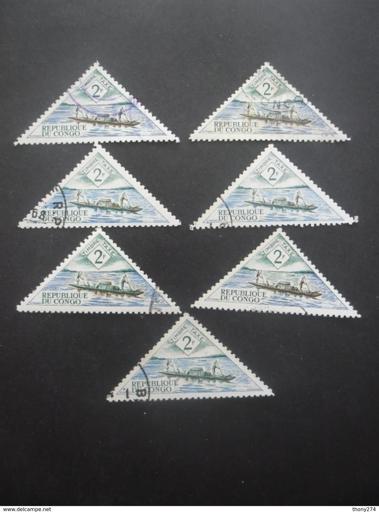 CONGO Taxe N°38 X 7 Oblitéré - Congo - Brazzaville