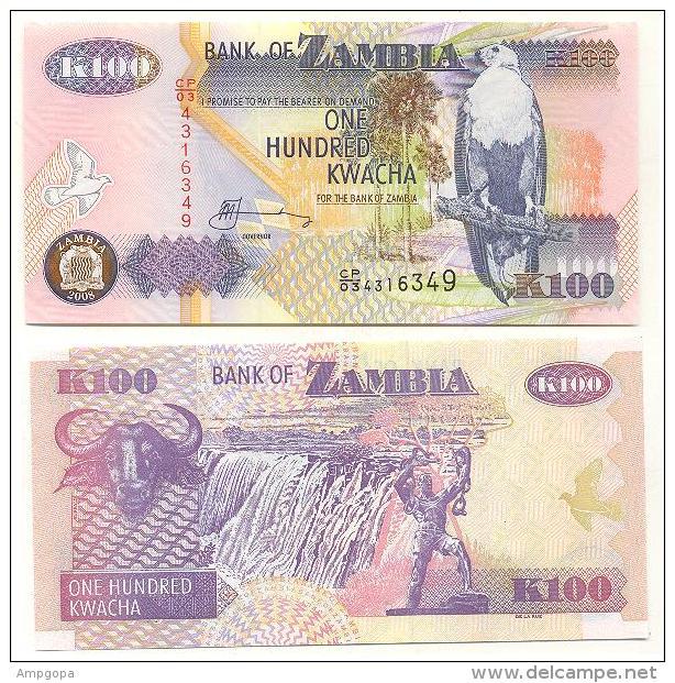Zambia 100 Kwacha 2008 Pick-38-g UNC - Sambia