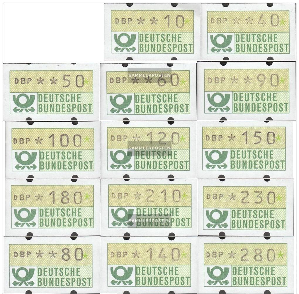 BRD (BR.Deutschland) ATM1 Teorema 1 (10,40,50,60, 80,90,100,120,140,150,180,210,230,280) MNH 1981 Automatenmarken - [7] West-Duitsland