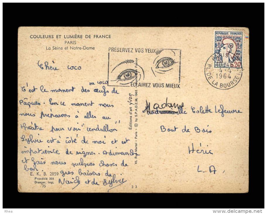 PARIS - BELLE OBLITERATION Préservez Vos Yeux - Bateau Mouche - Autres