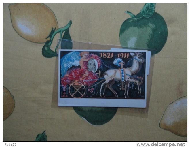CARTOLINA Postale Konigreich BAYERN Postkarte 1821 1911 Usata Viaggiata - Bavière