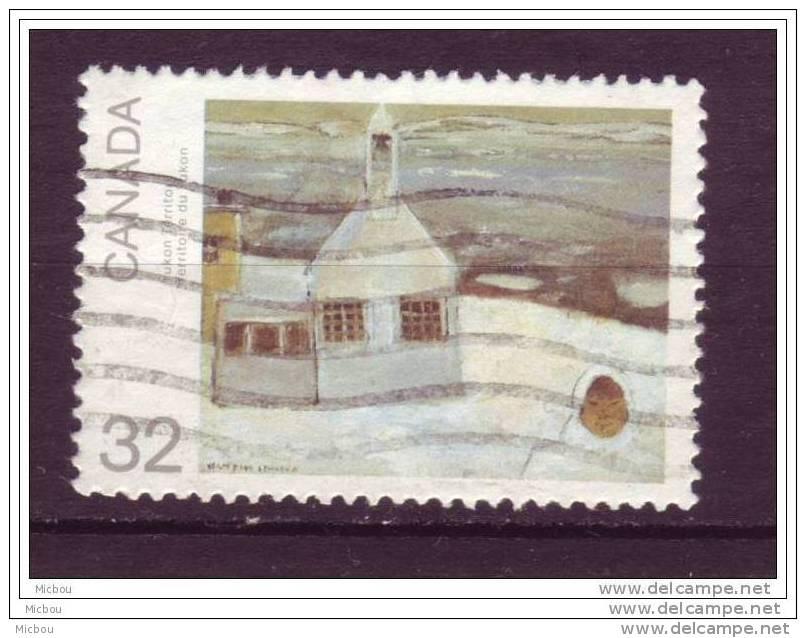 Canada, Peinture, église, Church, Painting, Cloche, Bell - Kerken En Kathedralen