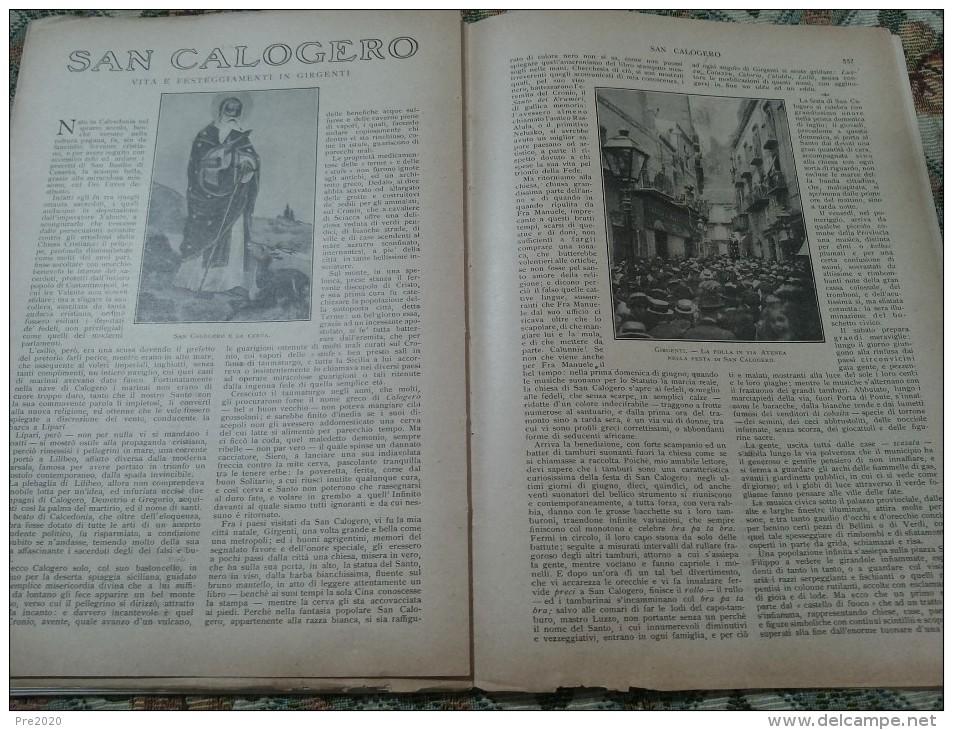 LA LETTURA 1923 COPERTINA BRUNELLESCHI GIOVANNI PRATI DASINDO COMANO TERME BRESSANONE MONTEMIGNAIO GIRGENTI SAN CALOGERO - Libri, Riviste, Fumetti