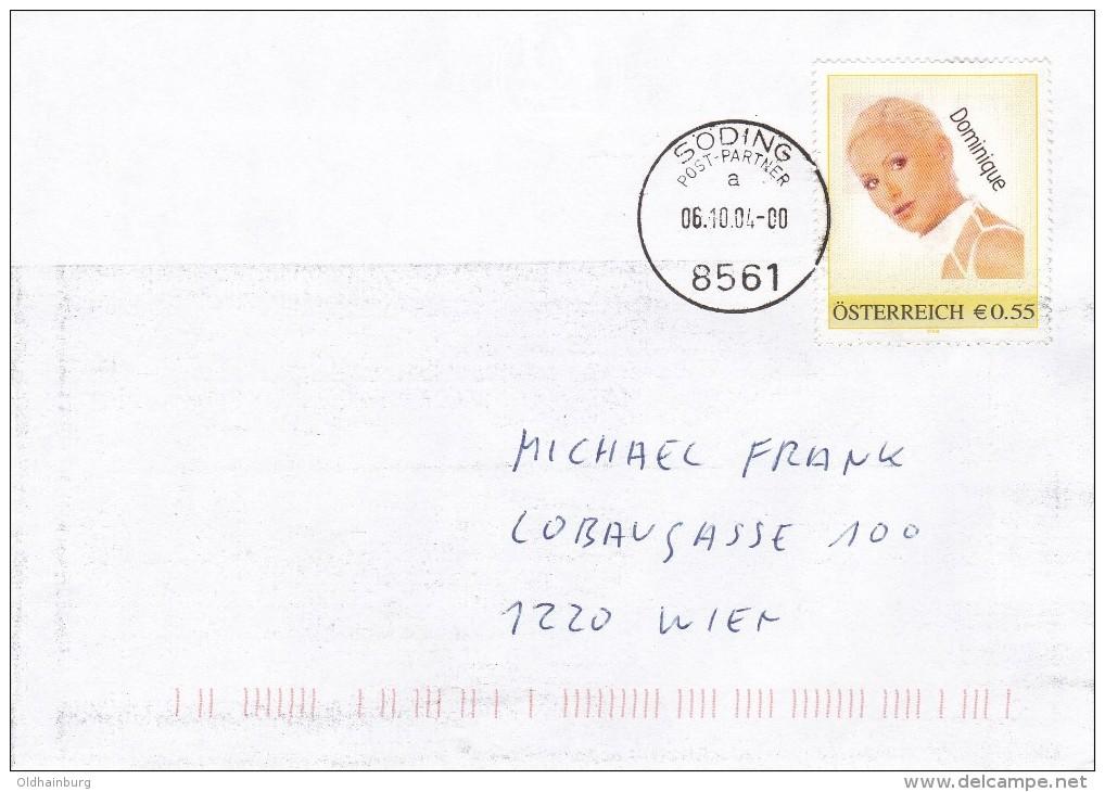 1307z: Personalisierte Marke Aus Österreich: Erotik Dominique, Gest. 06.10.04 Postpartner 8561 Söding - Österreich