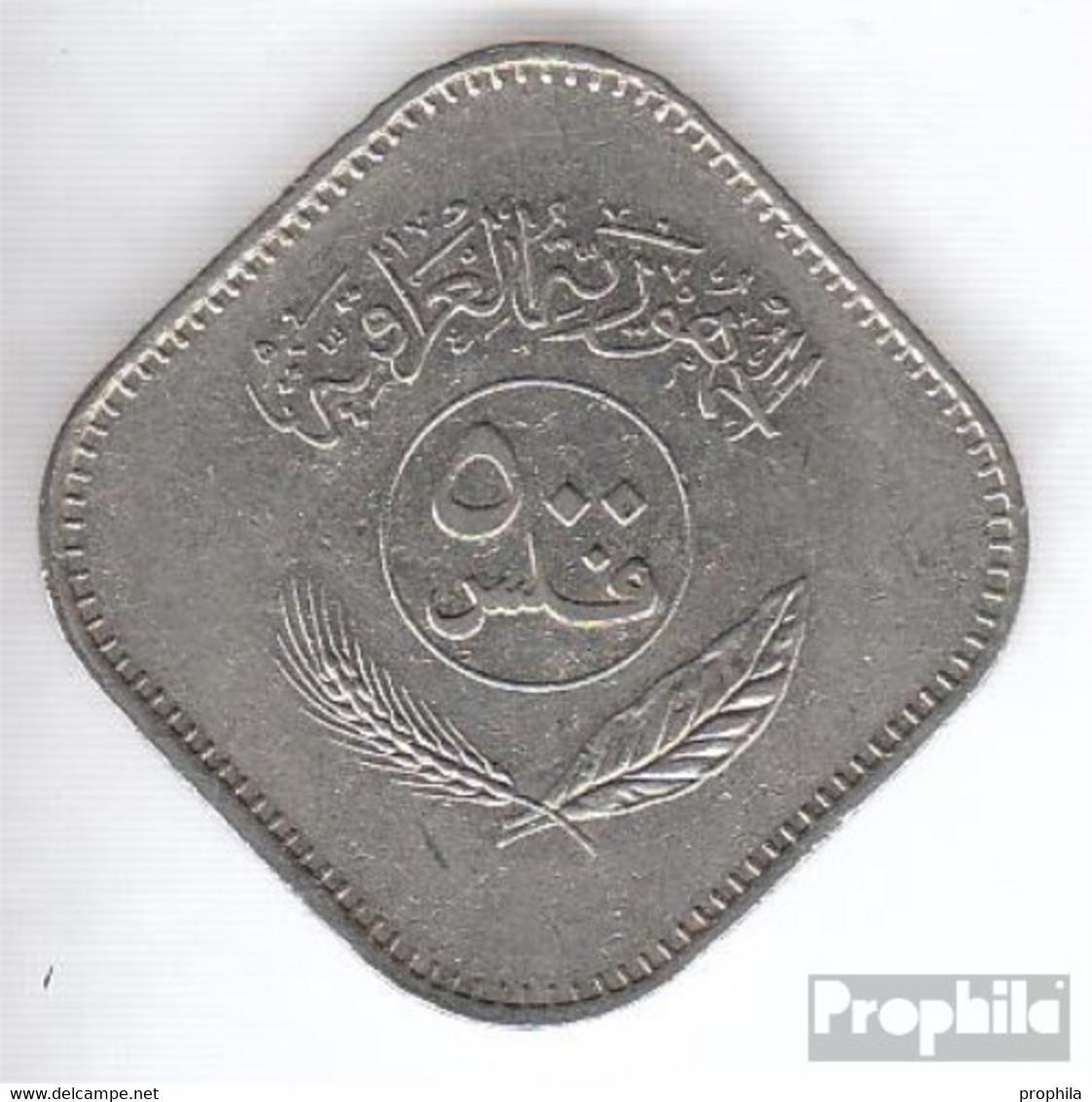 Irak 165 1982 Vorzüglich Nickel Vorzüglich 1982 500 Fils Palmen - Irak