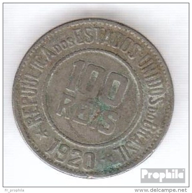 Brésil Km-no. : 518 1920 Très Déjà Cuivre-Nickel Très Déjà 1920 100 Riz Libert - Brasilien