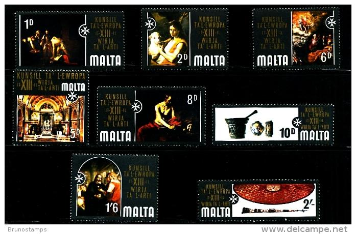 MALTA - 1970  COUNCIL OF EUROPE  SET MINT NH - Malta