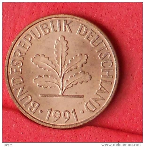 GERMANY FEDERAL REPUBLIC  2  PFENING  1991 J   KM# 106a  -    (Nº11108) - [ 7] 1949-…: BRD