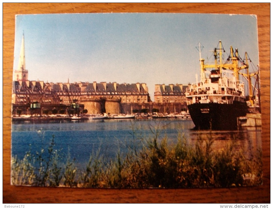 Carte Postale Saint Malo En L´Isle Port Rempars Grande Porte Bassin Des Yachts 1974 - Saint Malo