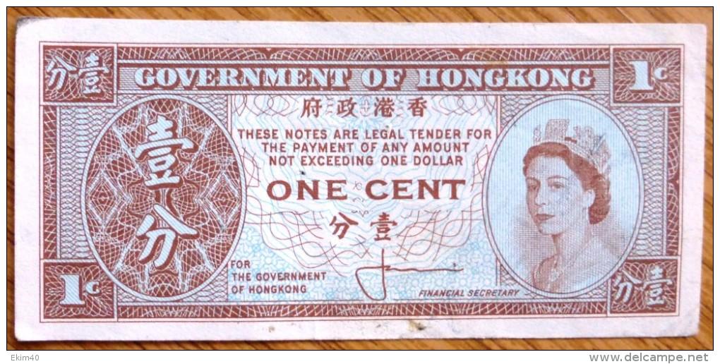 C1960 Used One Cent Hong Kong Banknote No BK-943. - Hong Kong
