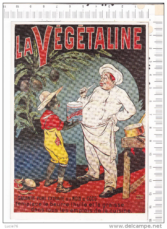 LA   VEGETALINE   -   D Après  Affiche  De  Ogé   -  Images De Noirs  N° 7 - Advertising