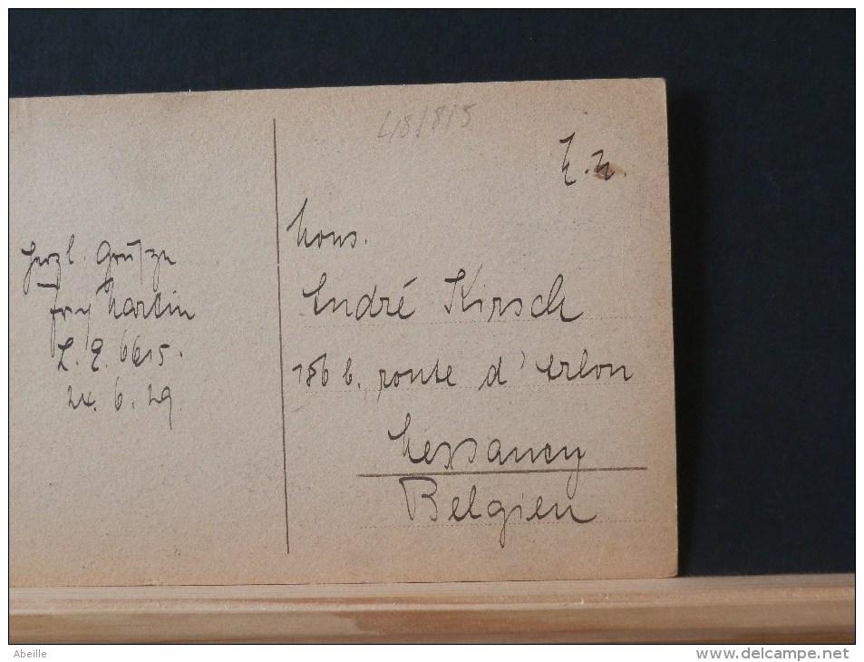48/815           CP 1929      POUR LA BELG. - Briefe U. Dokumente