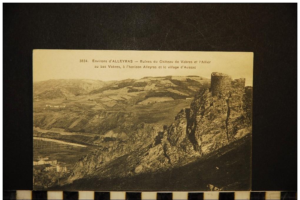 CP, 43, Environs D'ALLEYRAS Ruines Du Château De Vabres Et L'Allier N° 3834 Vierge - Non Classés
