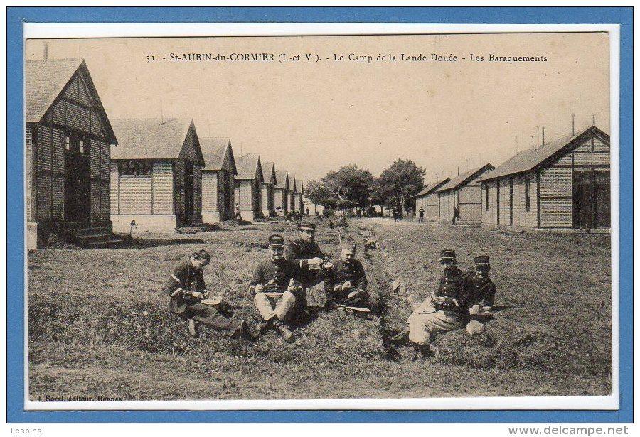35  - SAINT AUBIN Du CORMIER --  Au Camp De La Lande D´ouée -  Les Baraquements - France