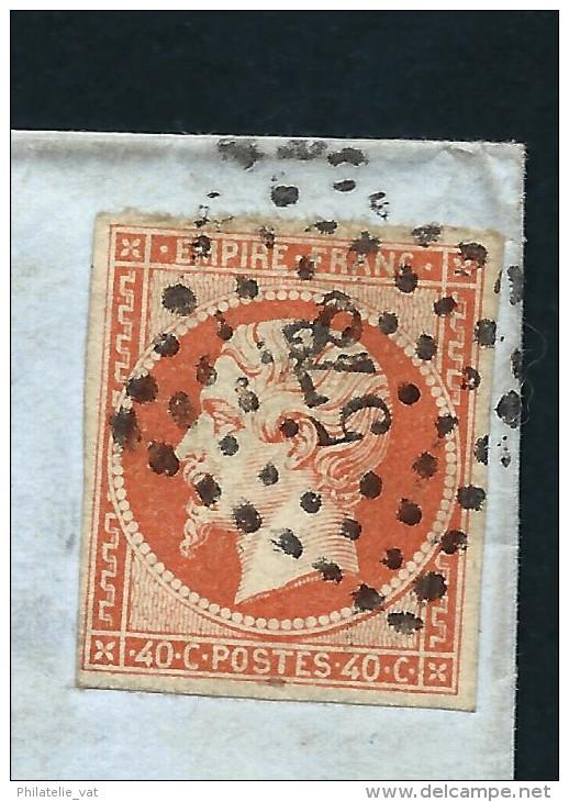 FRANCE-  LETTRE DE CAEN POUR FLERS AFF TYPE NAPOLEON A 40c  1857  A VOIR POUR ETUDE   LOT P2156 - Marcophilie (Lettres)