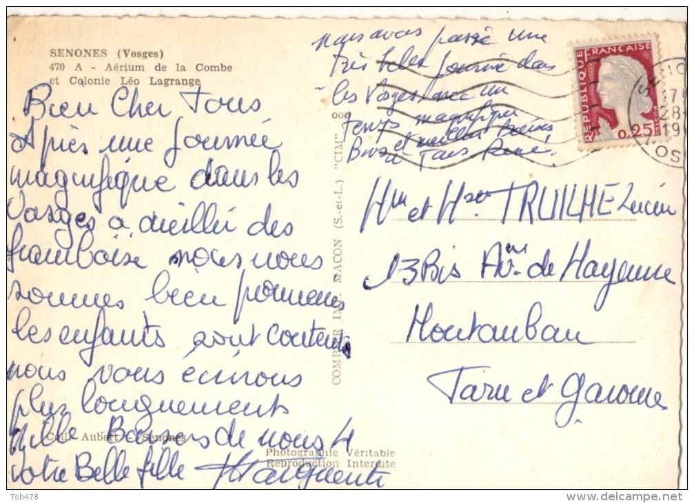 88---SENONES--aérium De La Combe Et Colonie Léo Lagrange---voir  2 Scans - Senones
