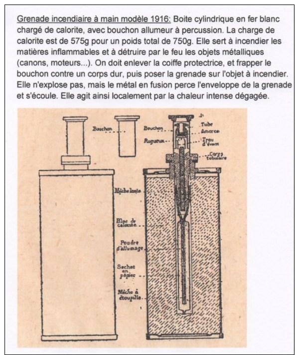 Top Rare Grenade Incendiaire Mle 1916 - 1914-18