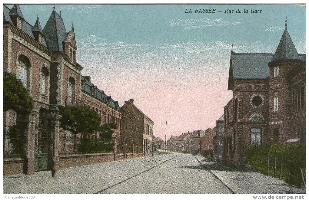 L37 / DEPT   59 CPA LA BASSEE RUE DE LA GARE / LA GARE NEUVE  VOIR DOS - Francia