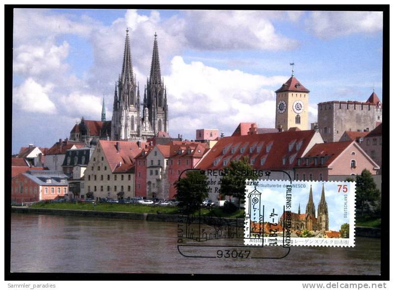 85308) BRD - Michel 2845 - MK/MC Maximumkarte 1/2011 - Altstadt Regensburg - D.Post Auflage 3.000 - Kirche - Maximum Cards