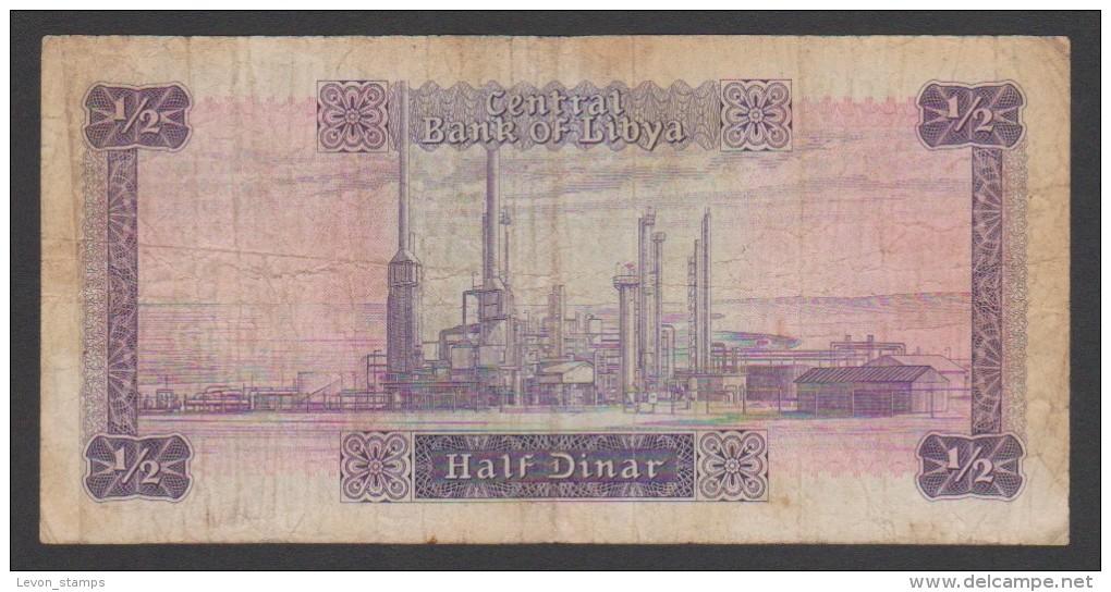 Libya,Half Dinar,Bank Of Libya, ,F. - Libya