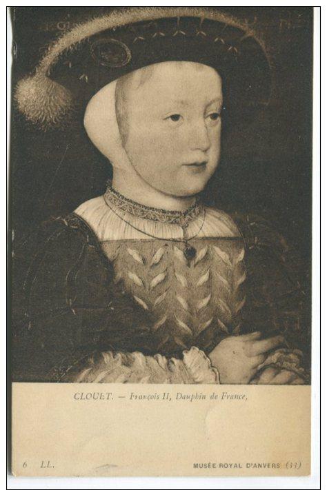 Musee Royal D'Anvers Postcard, Clouet, Francois II, Dauphin De France, 6 - Paintings
