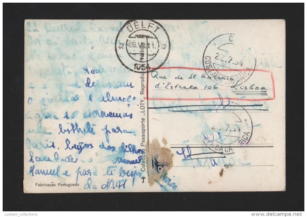 POSTCARD 1950years COSTA DA CAPARICA BAIRRO DE SANTO ANTÓNIO  ALMADA PORTUGAL - Setúbal