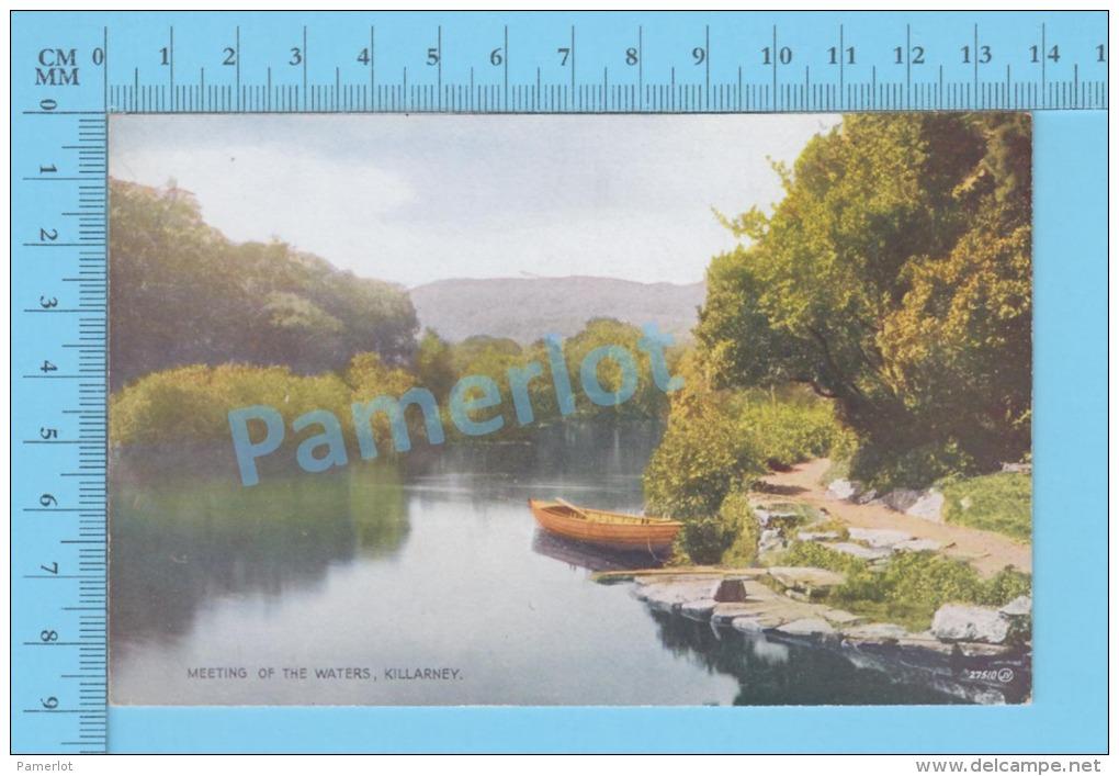 Ireland ( Killarney Meeting Of The Wather )vintage Postcard By Valentine No 27510 -  )recto/Verso - Kerry