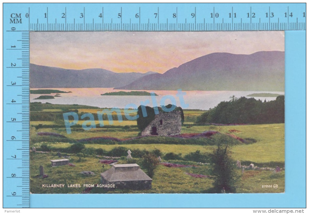 Ireland ( Killarney Lake From Aghadoe ) Vintage Postcard By Valentine No 27300 -  )recto/Verso - Kerry