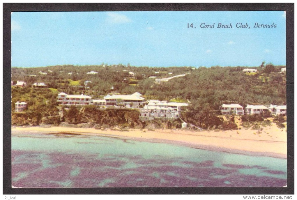 BM14) Coral Beach Club, Bermuda - Posted 1957 - Bermuda