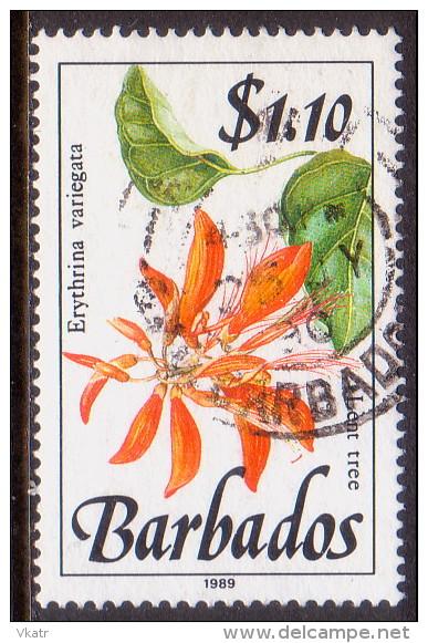 BARBADOS 1989 SG #902 $1.10 VF Used Wild Plants Imprint 1989 - Barbades (1966-...)