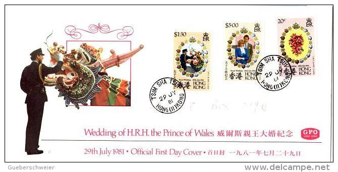 HC 35 - HONG KONG FDC Royal Wedding 1981 - FDC
