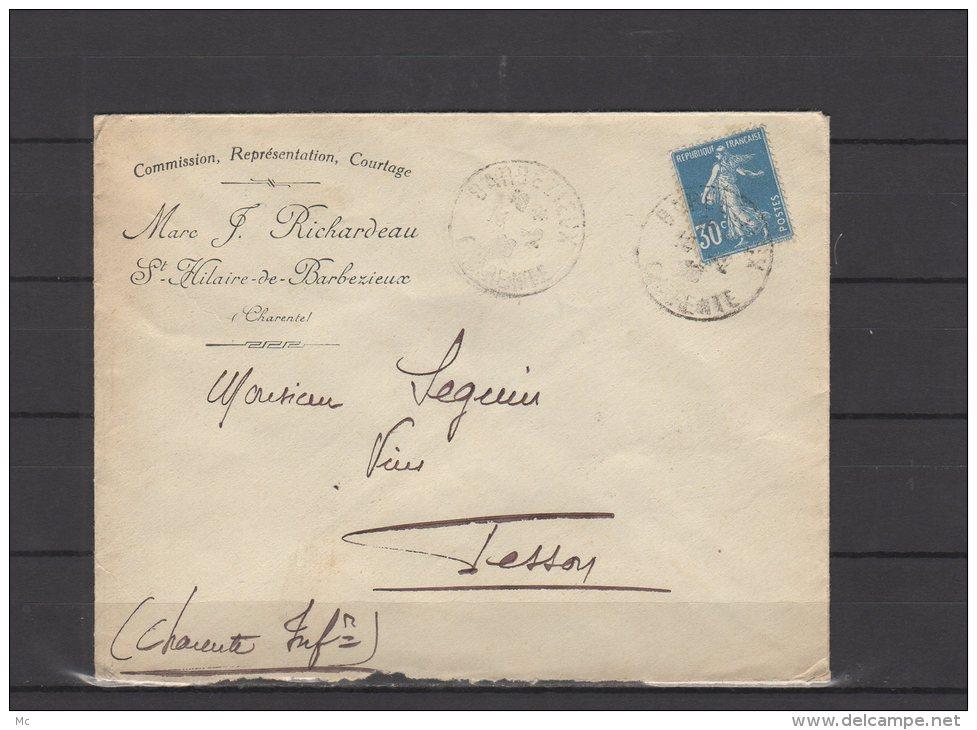 16 - St Hilaire De Barbezieux - Marc F. Richardeau - Commission  .... - 1926 - Postmark Collection (Covers)