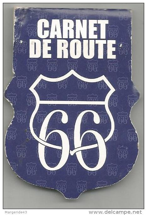 POCHETTE D'ALLUMETTES CARNET DE ROUTE 66 - Cajas De Cerillas (fósforos)