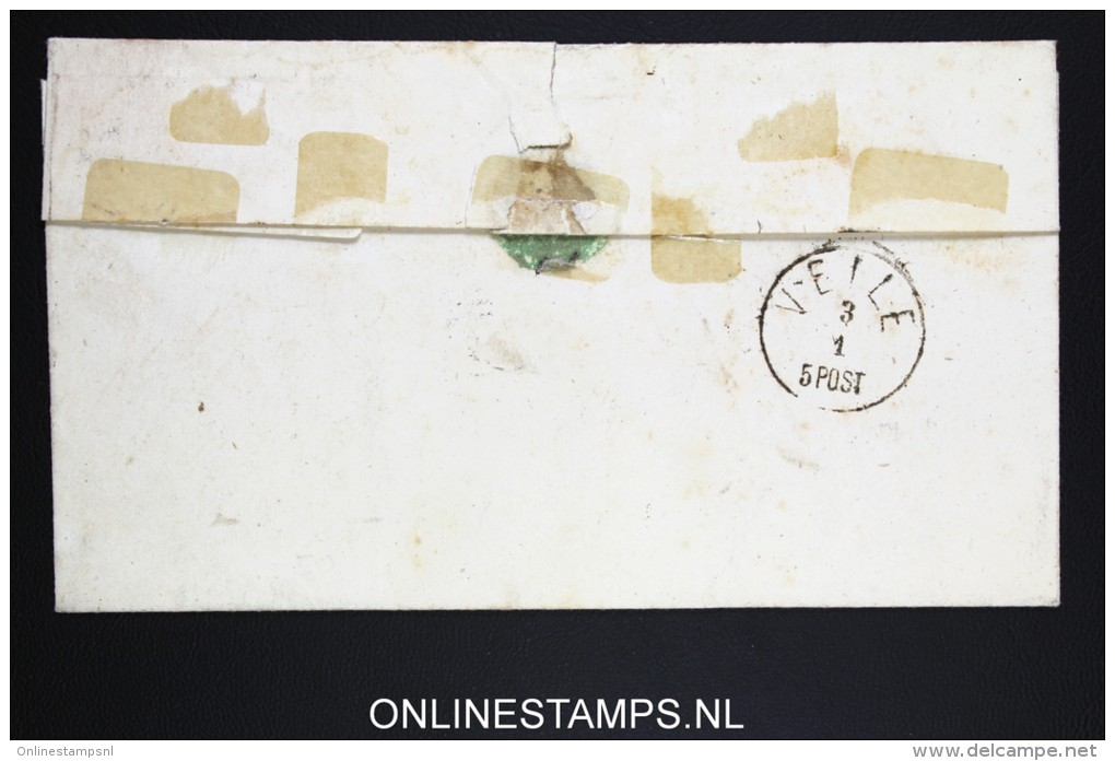 Danmark: Cover With 4 SK To Veile - 1864-04 (Christian IX)