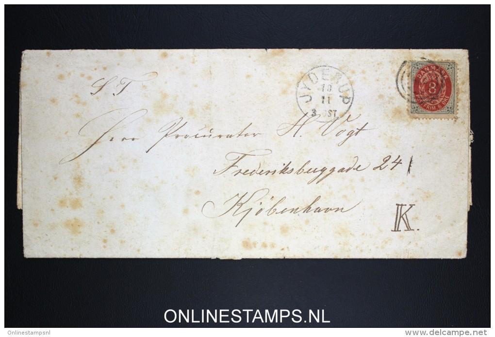 Danmark: Cover 8 O, Jyderup  Waxseal, Fragile! - 1864-04 (Christian IX)