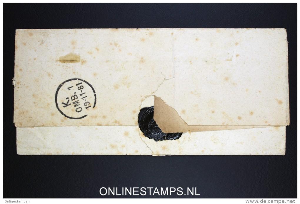 Danmark: Cover 8 O, Jyderup  Waxseal, Fragile! - Briefe U. Dokumente
