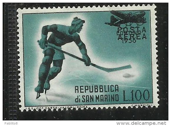 SAN MARINO 1956 POSTA AEREA AIR MAIL CORTINA SOPRASTAMPATO SURCHARGED MNH - Posta Aerea