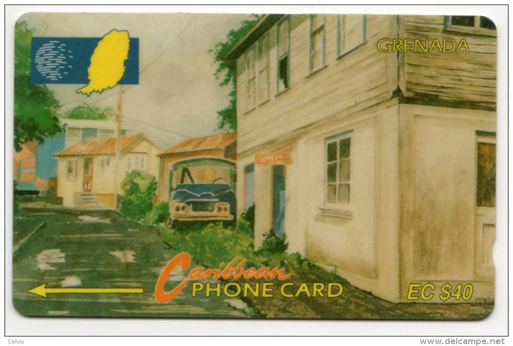 GRENADE CARAIBES CABLE & WIRELESS MV Cards GRE-10C 40$  CN 10CGRC - Grenada
