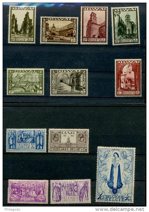 363/374   ORVAL 1933  **    Cote 3000 E   Superbe - Belgique