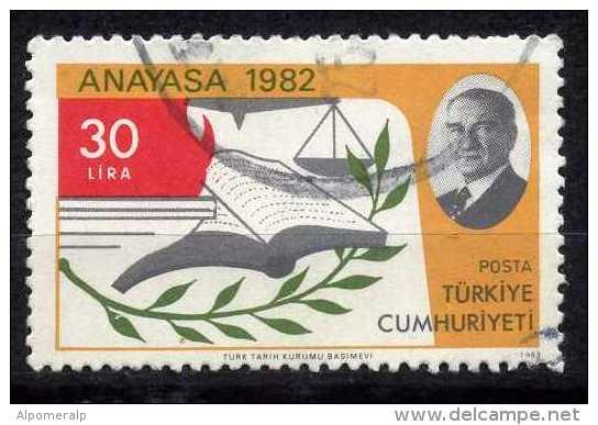 Turkey 1983 - Mi. 2628 O, Olive Branch | Scales | Book (Constitution) - 1921-... Republic