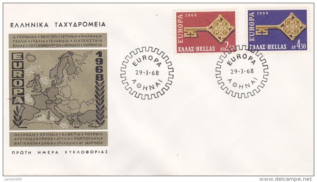 Greece 1968 Europa FDC - FDC