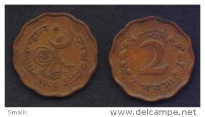 PAKISTAN COIN 1966 -  TWO 2 PAISA COIN, KM#25 - Pakistan